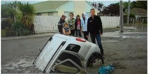 התנזלות של כביש בניו-זילנד